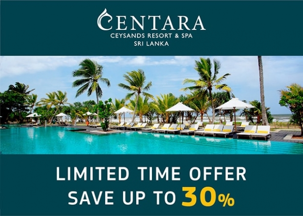 Save Up to 30% in Centara Ceysands Resort & Spa Bentota