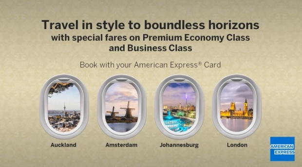 Special Premium Economy Class Early Bird Fares in Singapore Airlines with American Express