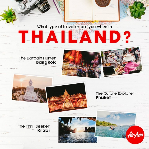 Explore Thailand with AirAsia from SGD58