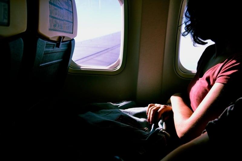 window seat airplane