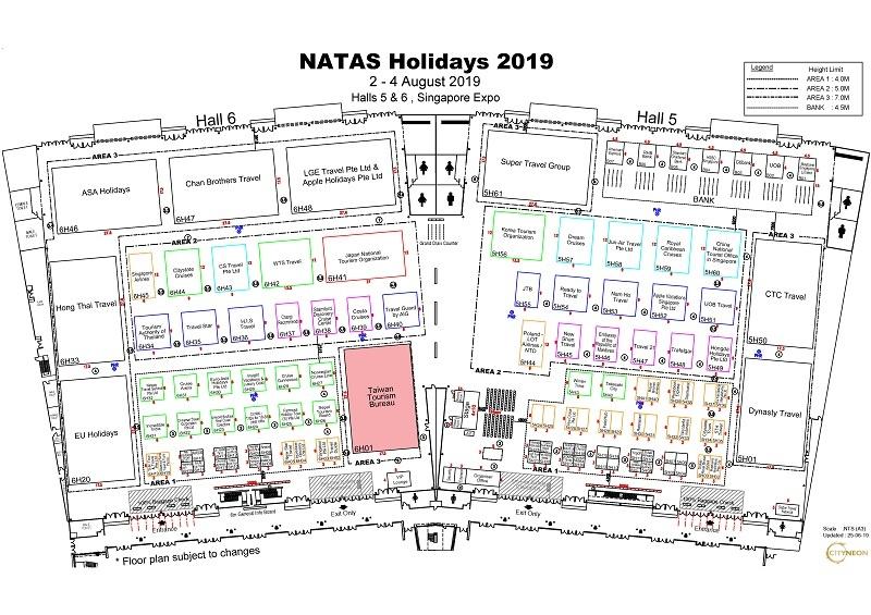 NATAS Travel Fair August 2019 at Singapore Expo Halls 5 & 6