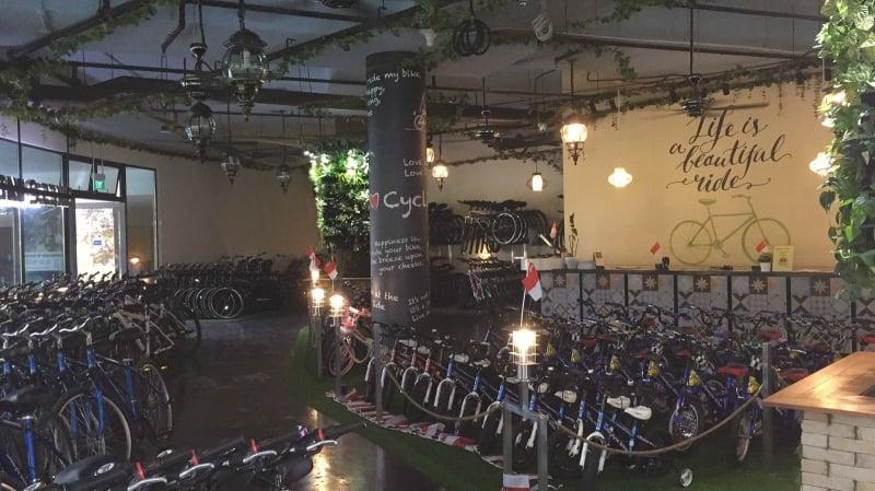 bikes at waterway
