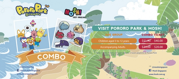 Pororo Park Singapore & Mosh! Combo from SGD40