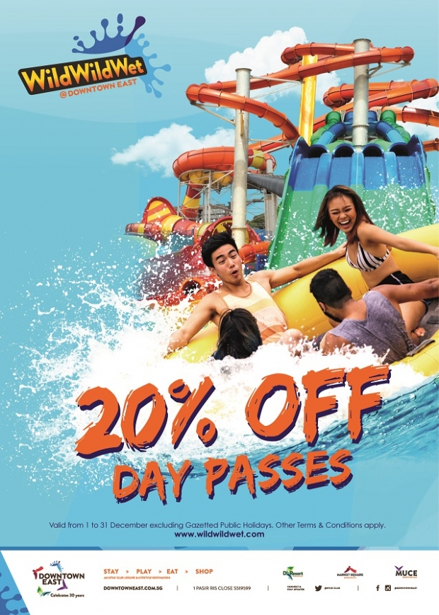 Enjoy up to 20% Off Day Passes in Wild Wild Wet at D'Resort @Downtown East
