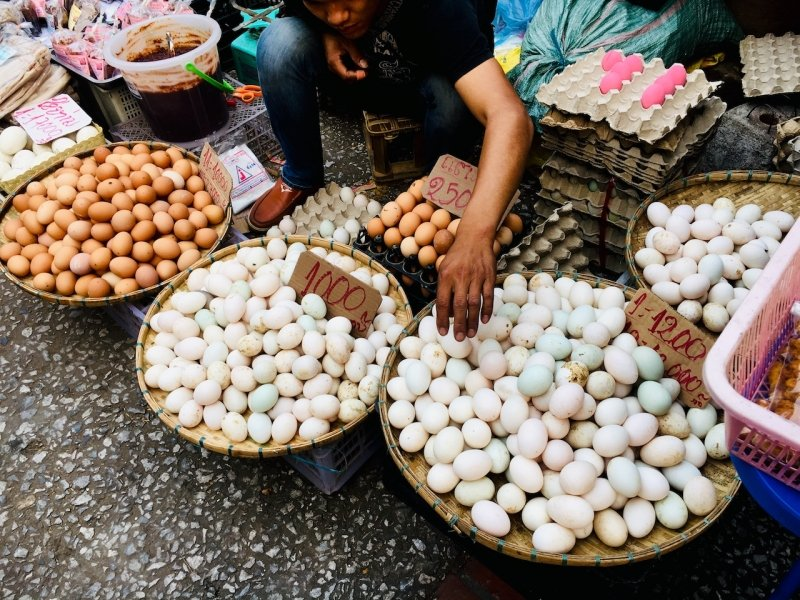 Eggs sold at Luang Prabang Morning Market