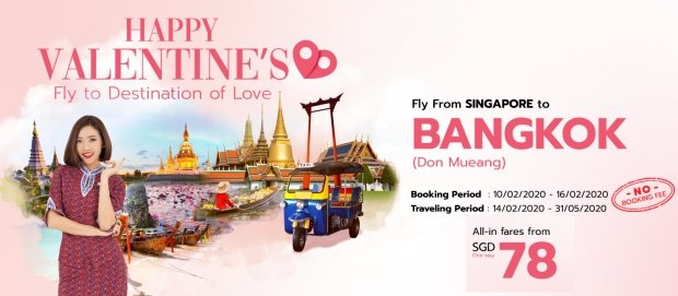 Celebrate Love with Thai Lion Air with Fares from SGD78