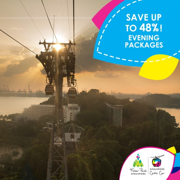 Enjoy Up to 48% when you Pair your Singapore Cable Car Joyride with Other Singapore Attractions