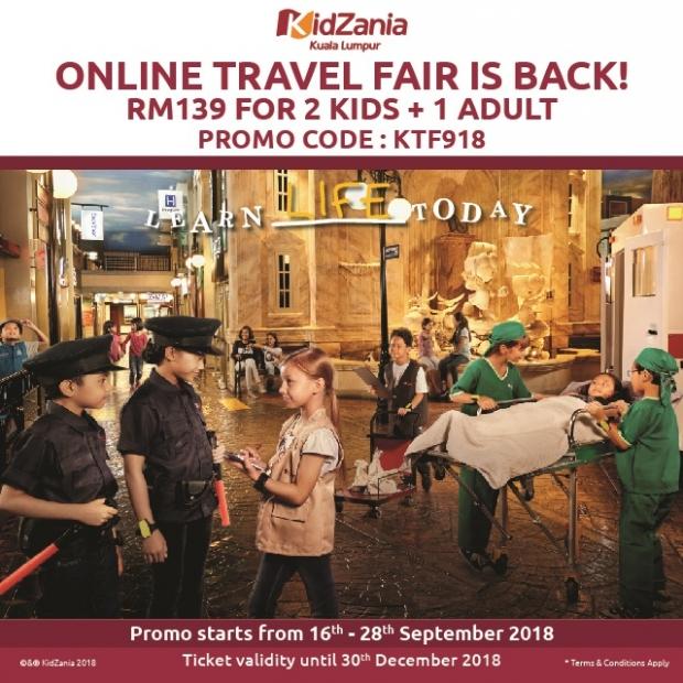 Online Travel Fair Offer in KidZania Kuala Lumpur