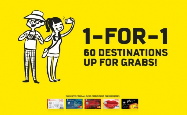 1-FOR-1 Fares in Scoot to Over 60 Destinations with OCBC Card