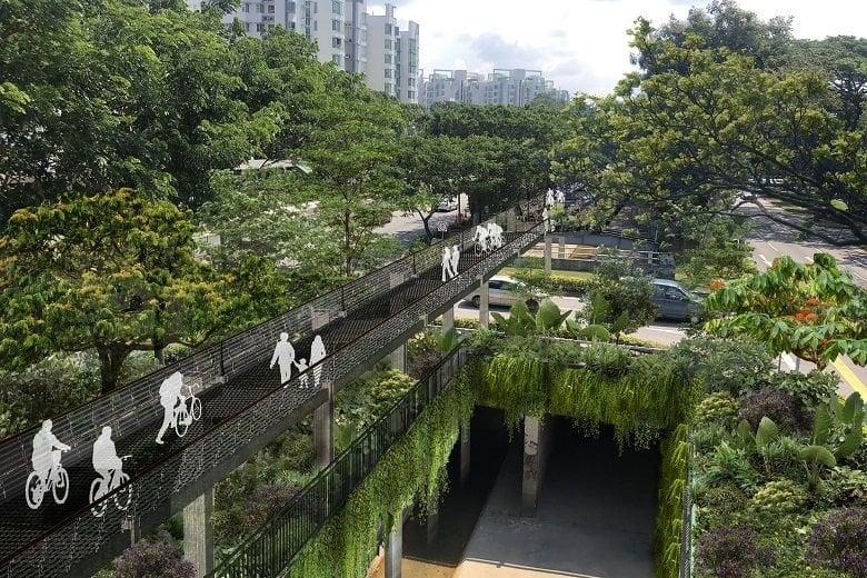 singapore green corridor sky park