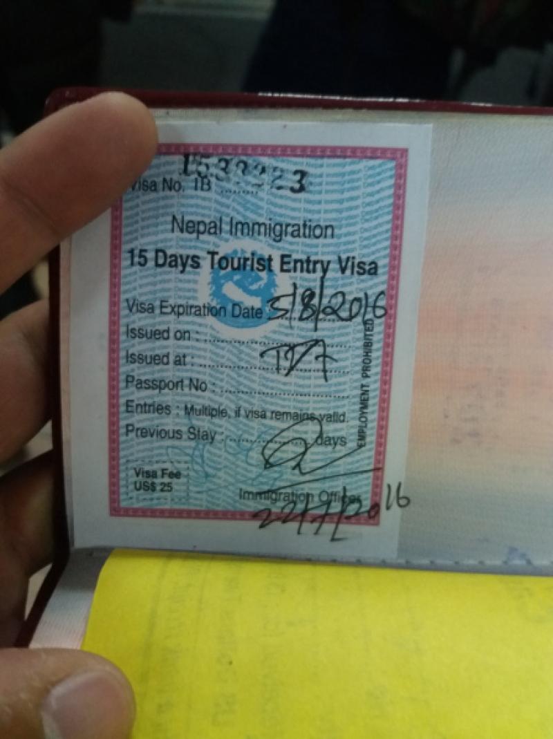 nepal visa on arrival