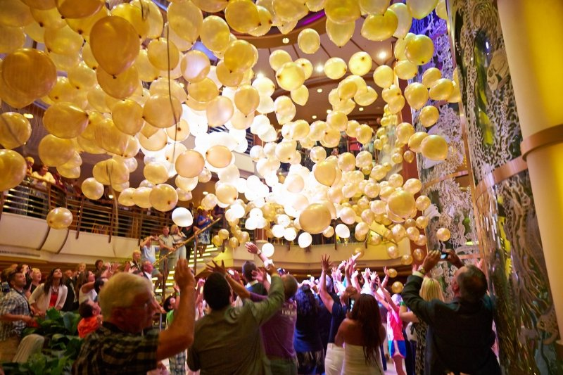 princess cruises balloon drop