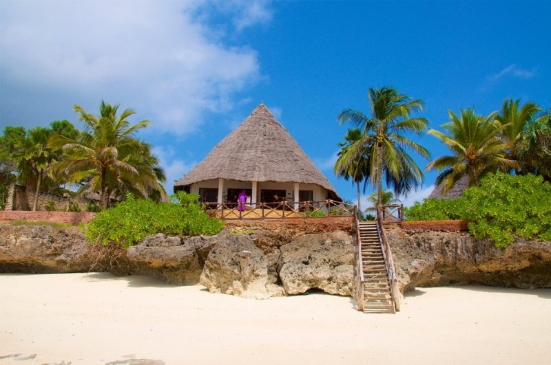 a beach hut in zanzibar