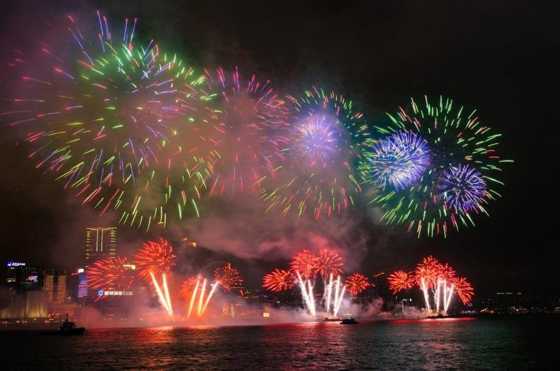 fireworks victoria harbour