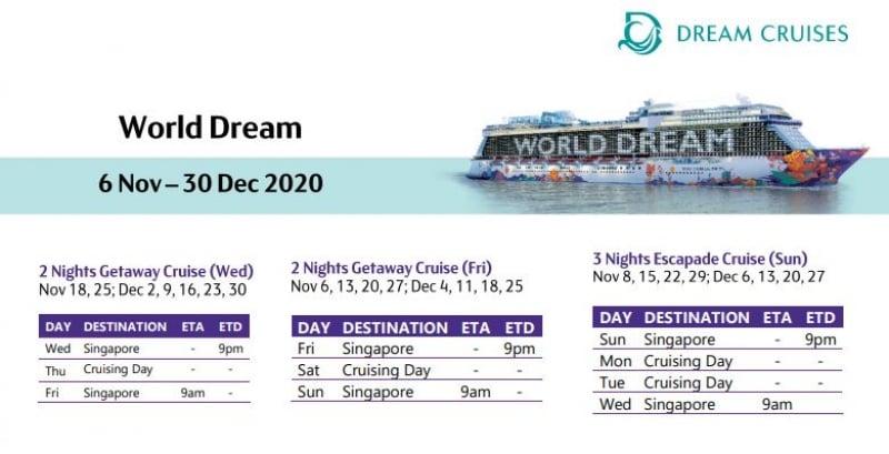 world dream cruise schedule