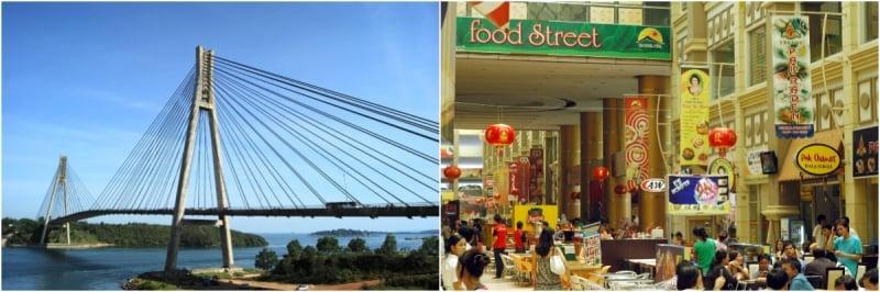 Cầu và chợ ở Indonesia: Lịch trình du lịch Indonesia