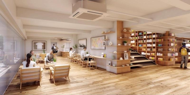 The Cafe at The Haruki Murakami Library in Waseda University