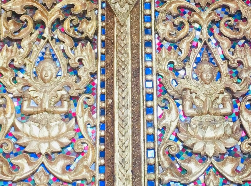 Detailing at Ho Phra Keo Museum