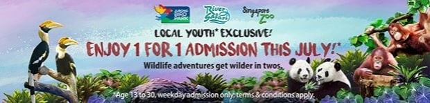 Local Youth 1-FOR-1 Admission in Wildlife Reserves Singapore Attractions