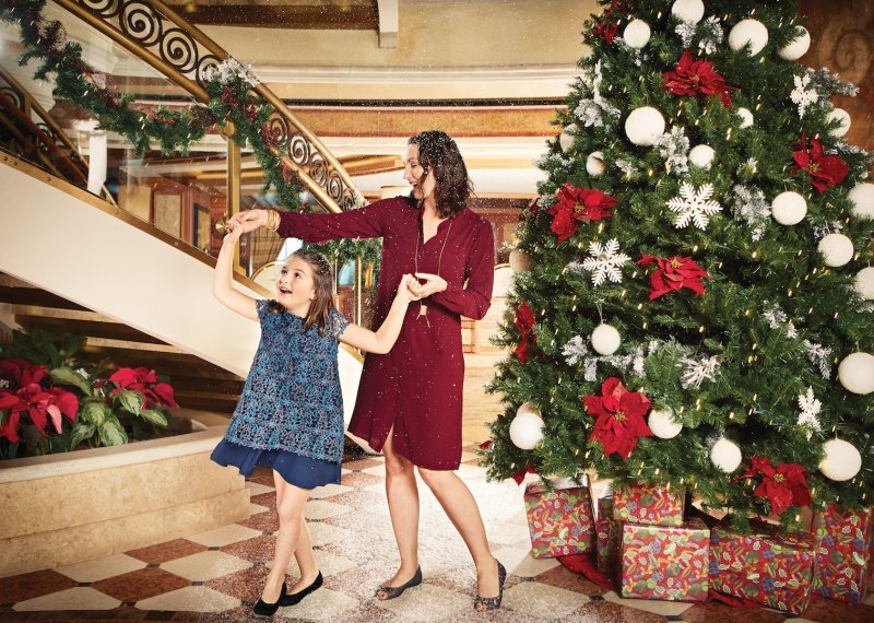 Princess Cruises christmas celebration