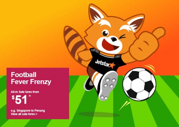 Football Fever Frenzy. Book your Flight from SGD51 with Jetstar