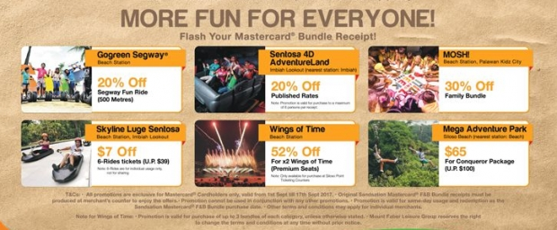 Enjoy 20% Off One-Day Sentosa 4D Adventure Land with MasterCard 1