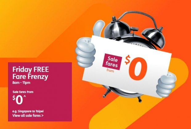 Friday FREE Fare Frenzy in Jetstar is Up Again!