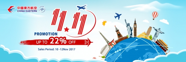 Get Up to 22% Discount on Flights with China Eastern Airlines