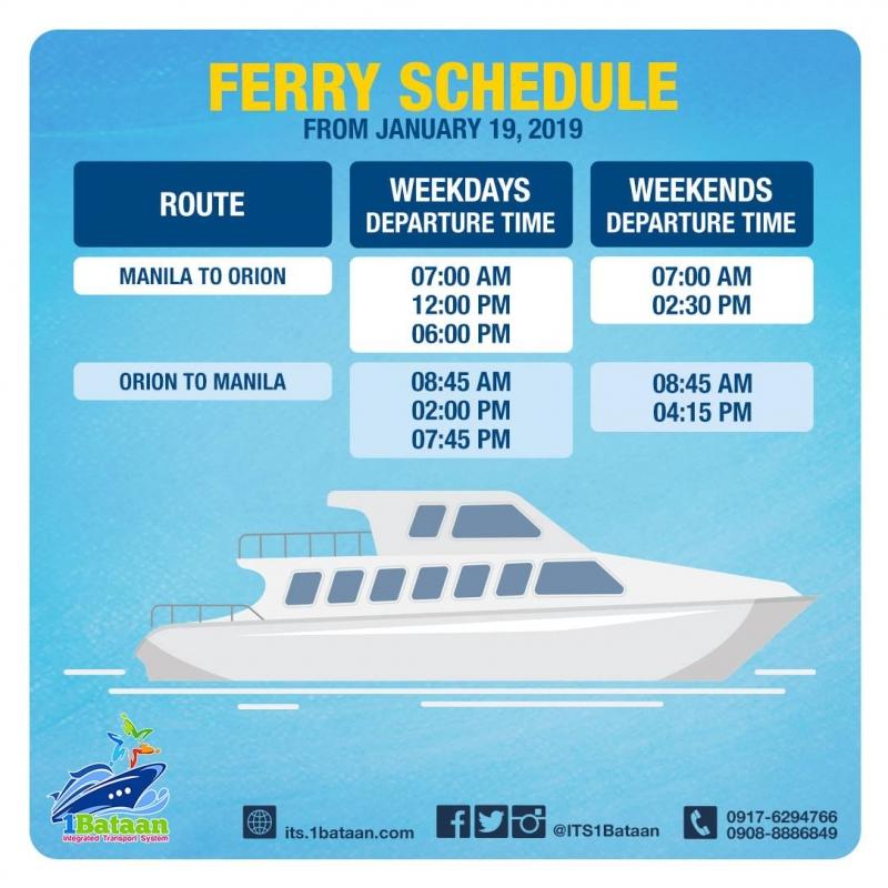 manila bataan ferry schedule