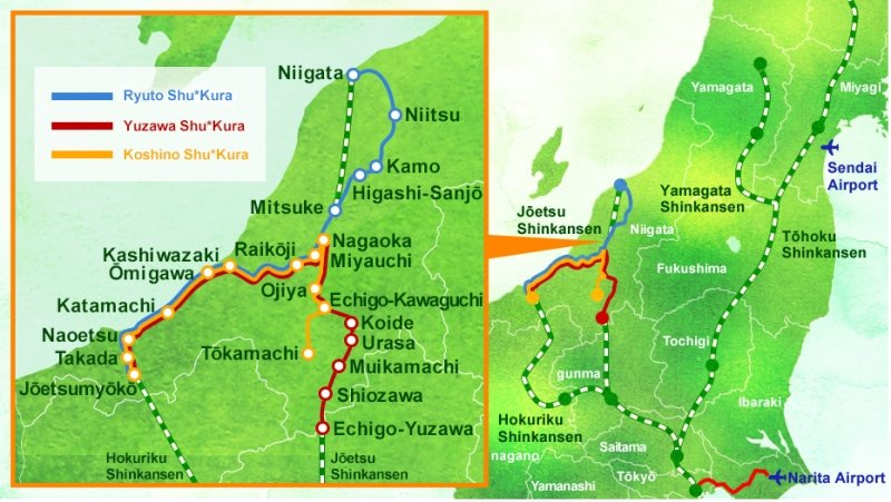 route map of koshino shu kura