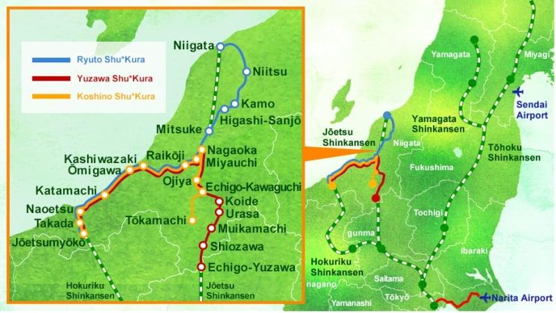 route map of koshino shu kura