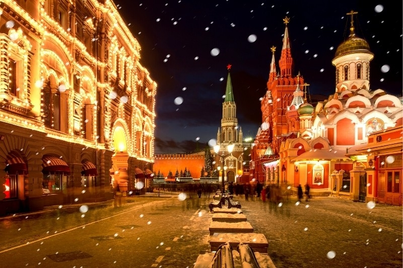Christmas Lights Around the World: Moscow, Russia