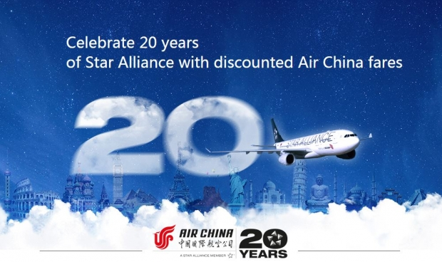 Fly to China, North America & Europe with Up to 5% Off Fares with Air China