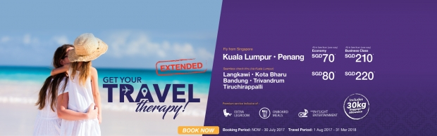 EXTENDED | Get Your Travel Therapy with Flights on Malindo Air from SGD29
