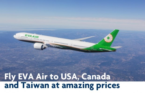 Fly Eva Air to USA, Canada and Taiwan with UOB Cards Special Fares