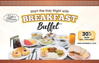 Breakfast Buffet at 30% Off