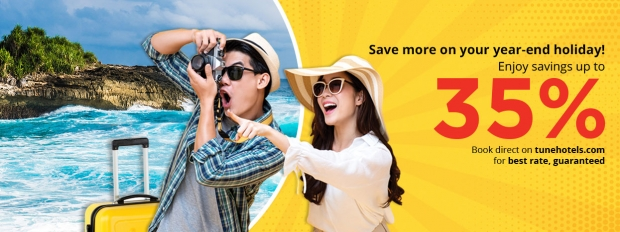 Save more on your year-end Holiday with Tune Hotels