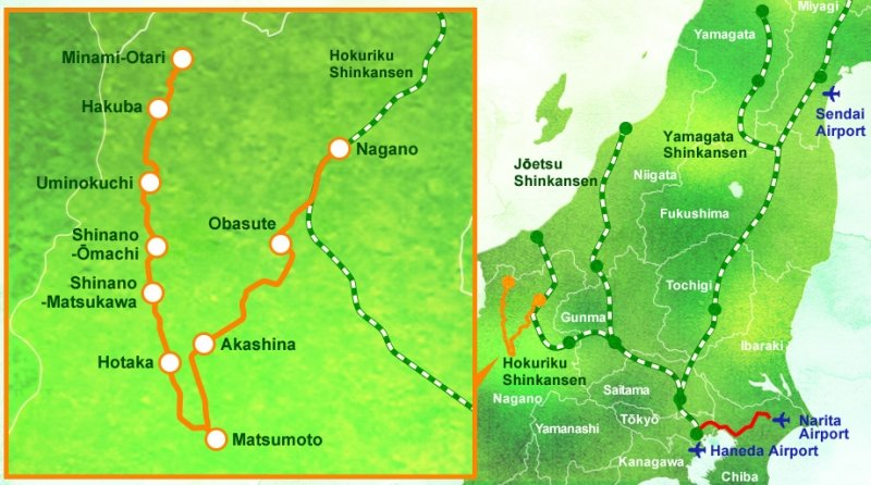 route map of resort view furusato