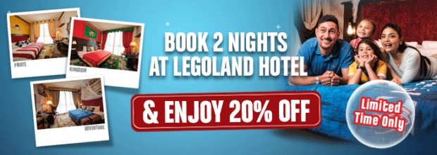 Enjoy 20% Off with 2 Nights Stay Promotion from Legoland Malaysia
