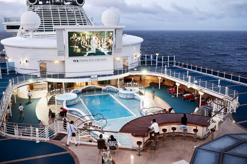 Princess Cruises open-air amphitheatre
