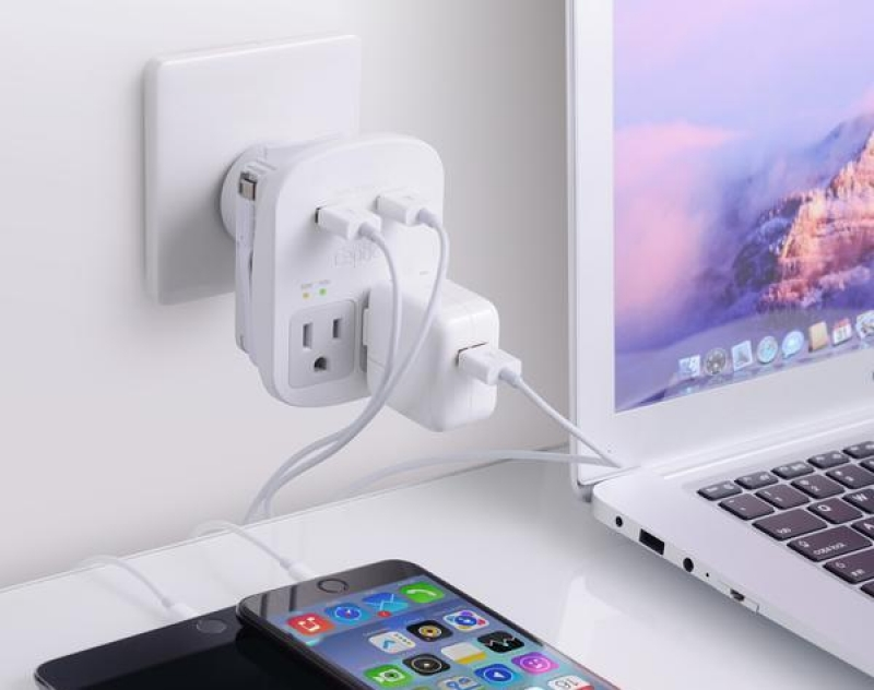 travel gadgets: all-in-one universal travel adapter