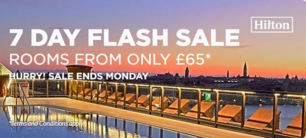 7-Day Flash Sale at Participating Hilton Hotels Worldwide