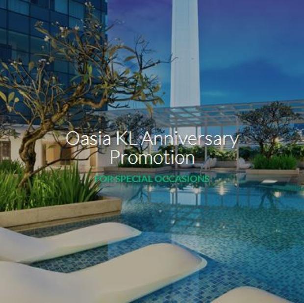 Oasia Suites Kuala Lumpur, Malaysia's 2nd Anniversary Promo with Far East Hospitality