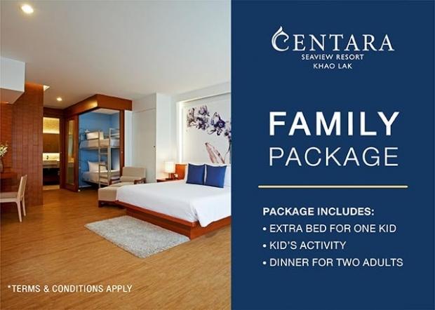 Family Package at Centara Seaview Resort Khao Lak