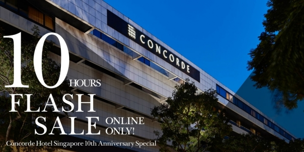 10-Hour Flash Sale - Enjoy up to 10% Savings on your Next Stay at Concorde Hotel Singapore