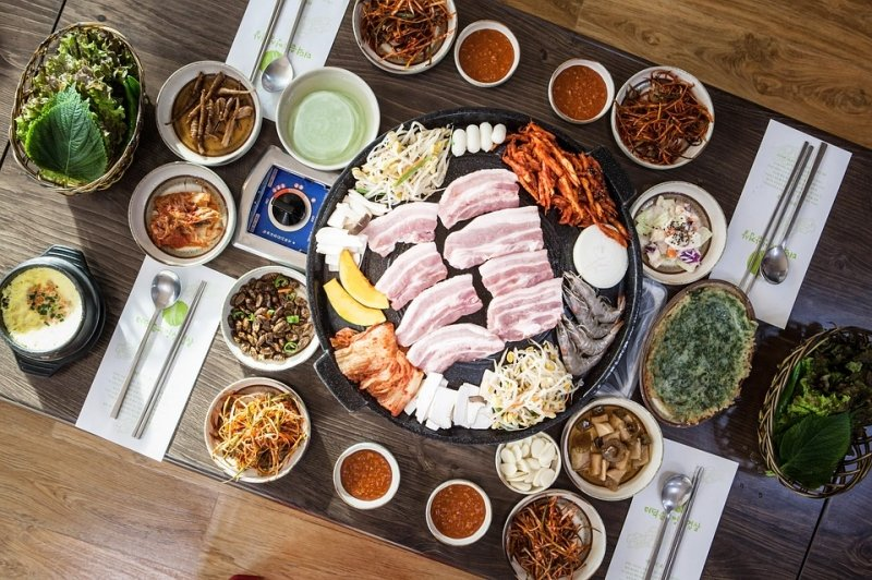 Samgyeopsal food for your 4 days Korea itinerary