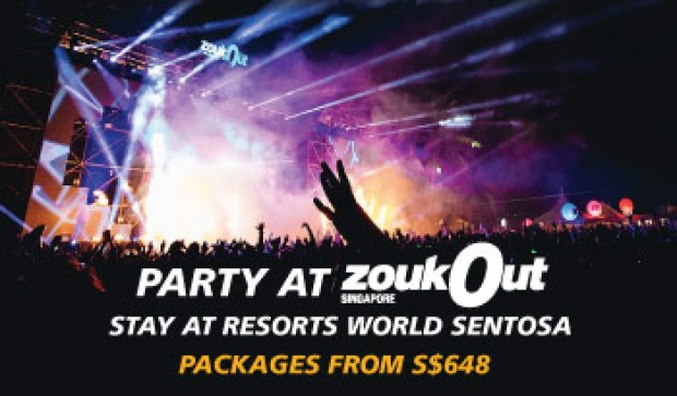 Stay at Resorts World Sentosa and Party at ZoukOut from SGD648