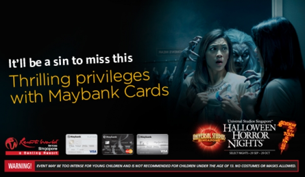Enjoy Special Privileges at Universal Studios Singapore's Halloween Horror Nights™ 7 with Maybank Cards!