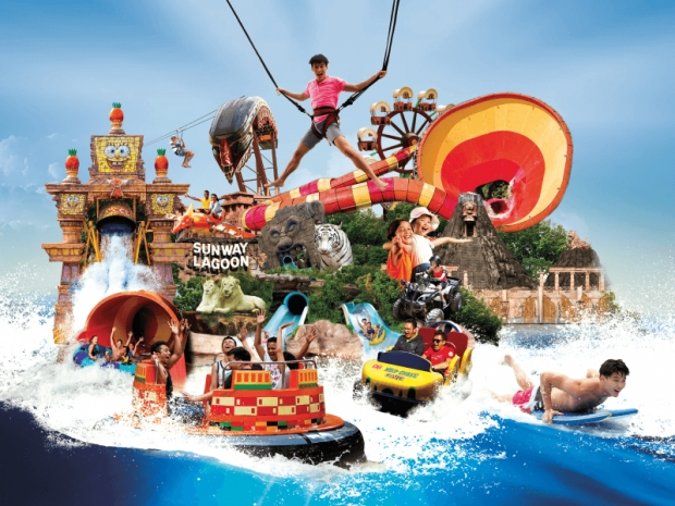 Admission Ticket: 6 Parks at One price for Sunway Lagoon