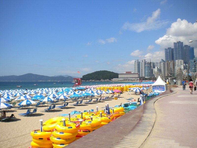 Haeundae Beach for your 4 days Korea itinerary